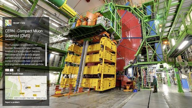 O CMS - Solenoide Compacto de Múons é outro experimento do CERN que pode ser visto pelo Street View (Foto: Divulgação)