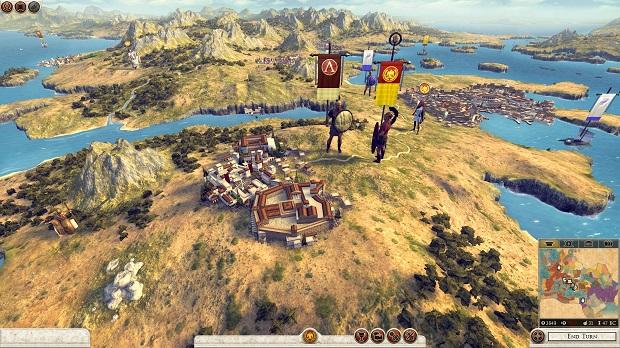 O mapa de campanha de Rome 2 é belíssimo (Foto: Divulgação)