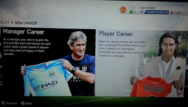 Escolha a carreira de jogador (Foto: Reprodução/Thiago Barros)