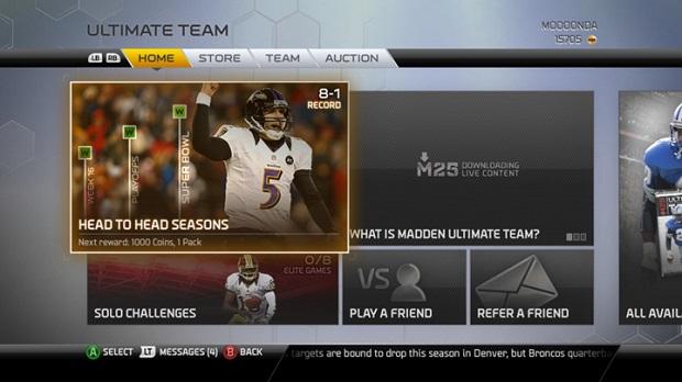 NFL também tem Ultimate Team (Foto: Divulgação)