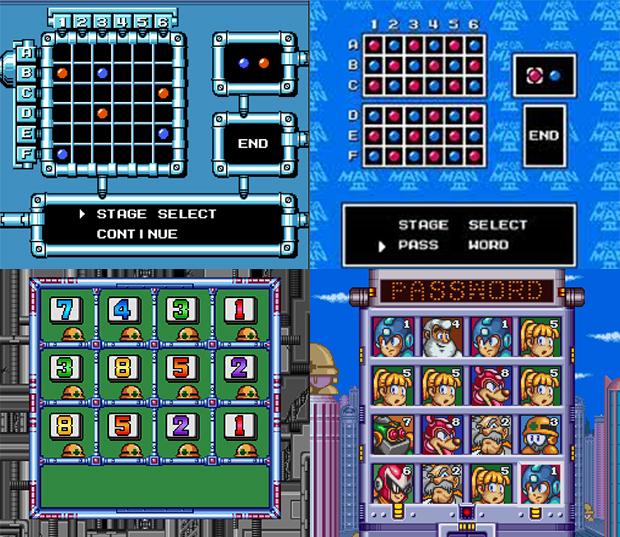 Evolução dos passwords na série Mega Man (Foto: Reprodução)