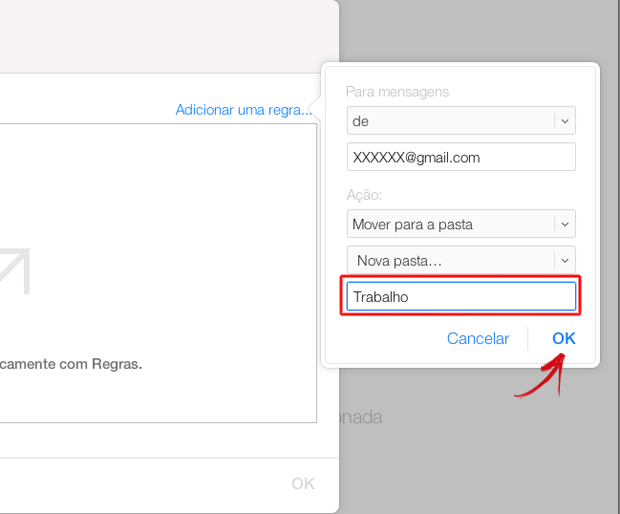 Nomeando a nova pasta de e-mails no iCloud (Foto: Reprodução/Marvin Costa)