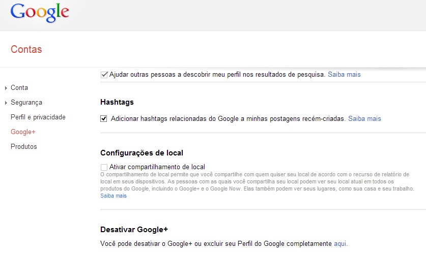 Apagando seu perfil no Google+ (Foto: Reprodução/Carolina Ribeiro)