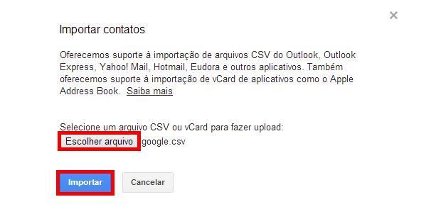 Como transferir contatos entre contas do Gmail. (Foto: Reprodução/João Kurtz)