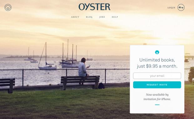 Oyster, o 'Netflix dos livros', cobrará taxa mensal para acesso de grande acervo (Foto: Divulgação)