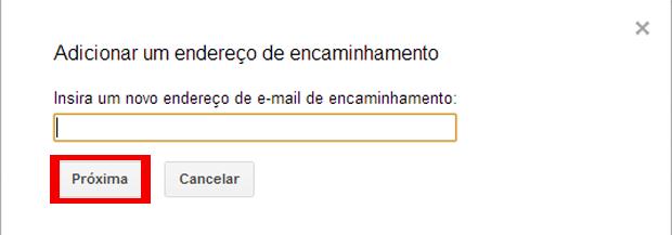 Como encaminhar mensagens para a nova conta do Gmail (foto: Reprodução/João Kurtz)
