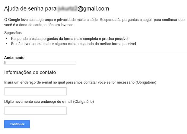 Como restaurar uma conta excluída do Gmail (foto: Reprodução/João Kurtz)