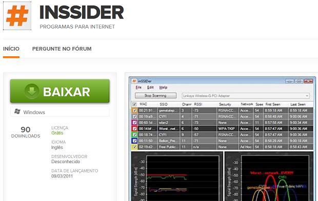 Baixando o InSSider no TechTudo Downloads (Foto: Reprodução/Edivaldo Brito)