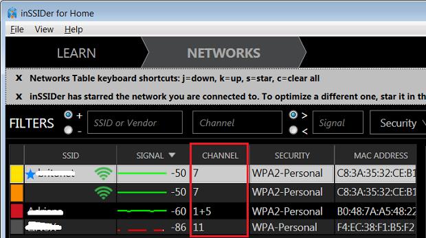 Monitorando redes Wi-Fi e descobrindo os canais usados com o InSSider (Foto: Reprodução/Edivaldo Brito)