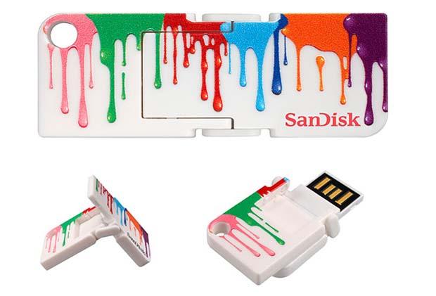 Pen Drive Sandisk Cruzer Pop apostou em design moderno. Foto: Reprodução.