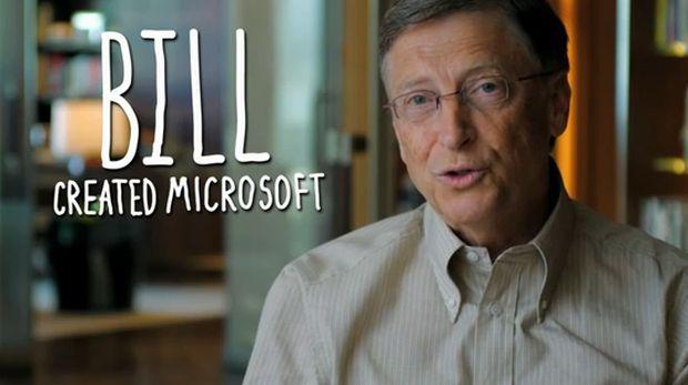 Bill Gates participa de uma ação para incentivar crianças a programar chamada Code.org (Foto: Reprodução/YouTube)