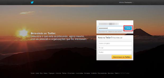 Reativar conta no Twitter (Foto: Reprodução/Lívia Dâmaso)