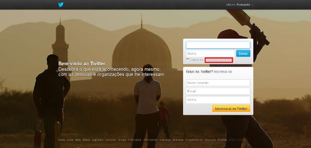 Página inicial do Twitter (Foto: Reprodução/Lívia Dâmaso)