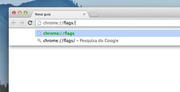 Acessando as configurações avançadas do Chrome (Foto: Reprodução/Helito Bijora)