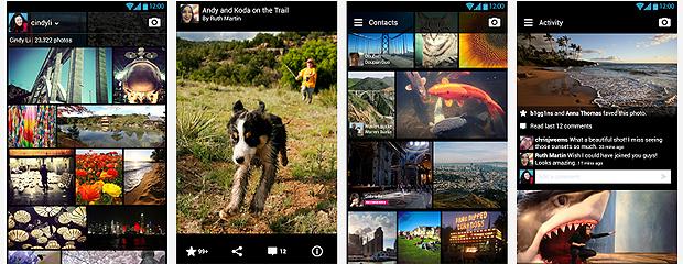 A plataforma Android foi a primeira a receber o aplicativo mobile do Flickr (Foto: Reprodução/Karla Soares)