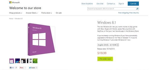 Microsoft já está vendendo o novo Windows (Foto: Reprodução)