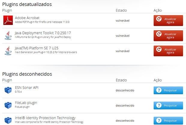 Mozilla tem página de suporte que diz se seus plugins estão atualizados (Foto: Reprodução/Mozilla)