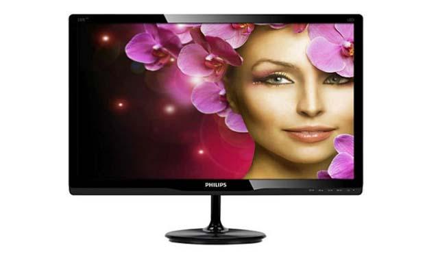 "Monitor LED Philips 23"" Full HD 237E4LHAB/00. Foto: Divulgação."