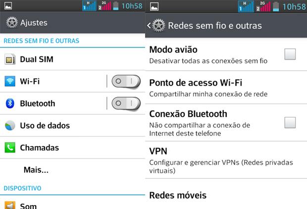 Acesse as configurações de rede (Foto: Reprodução)