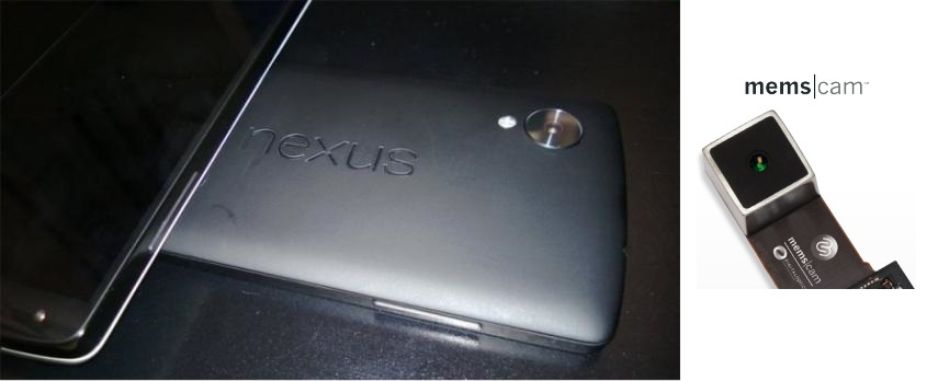 O Nexus terá processador Snapdragon 800 e câmera digital MENS de 8 megapixels (Foto:Reprodução/PhoneArena)