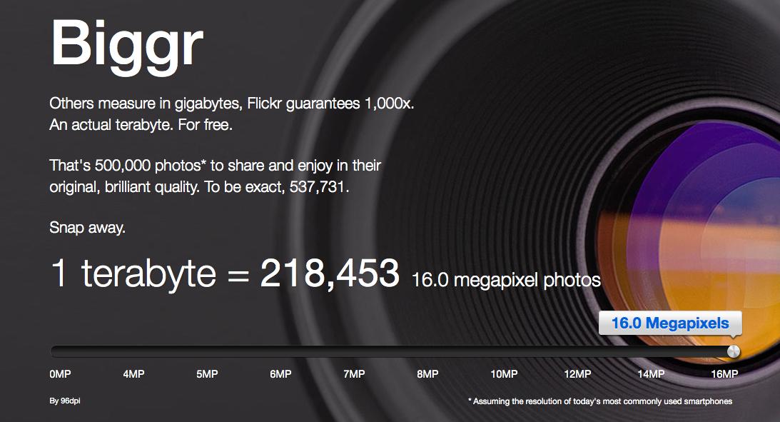Flickr oferece até 1 TB de armazenamento de fotos online (Foto: Reprodução/Flickr)