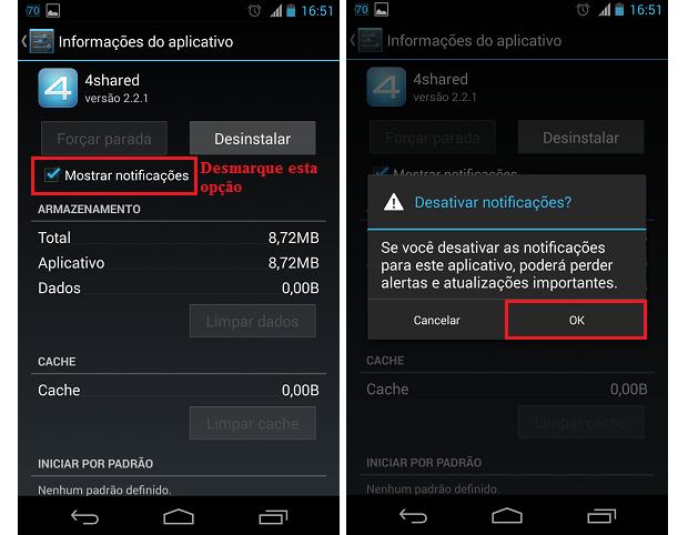 Na tela de informações do app, desabilite as notificações (Foto: Reprodução/Thiago Bittencourt)