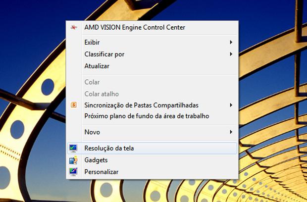 Acessando o menu para configurar os monitores (Foto: Reprodução/Teresa Furtado)