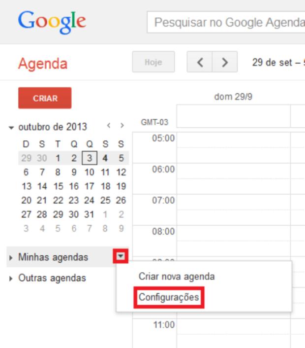 Minhas agendas do Google (Foto: Reprodução/Lívia Dâmaso)