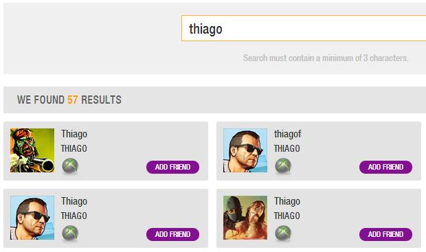 Procure amigos na busca (Foto: Reprodução/Thiago Barros) (Foto: Procure amigos na busca (Foto: Reprodução/Thiago Barros))