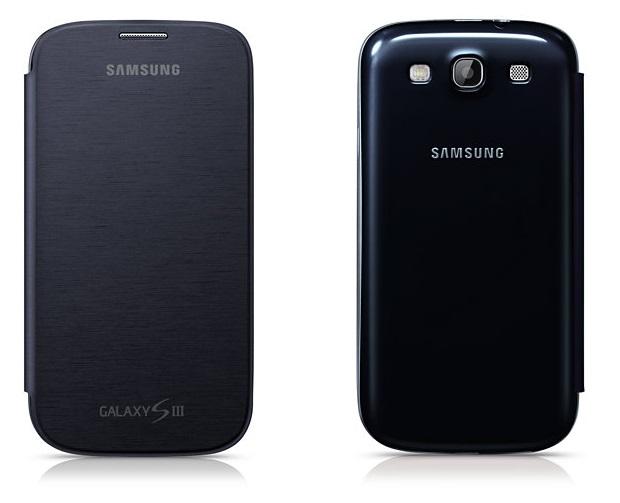 Frente e verso da capa Capa Flip Cover Galaxy SIII (Foto: Divulgação/Samsung)