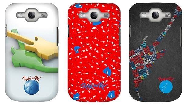 Capas para Galaxy S3 do Rock in Rio (Foto: Divulgação/Custom4U)