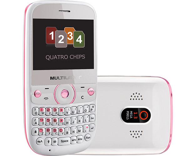 Multilaser Star tem teclado físico e tela de 2,4 polegadas, além do sintonizador de TV (Foto: Divulgação/Multilaser)