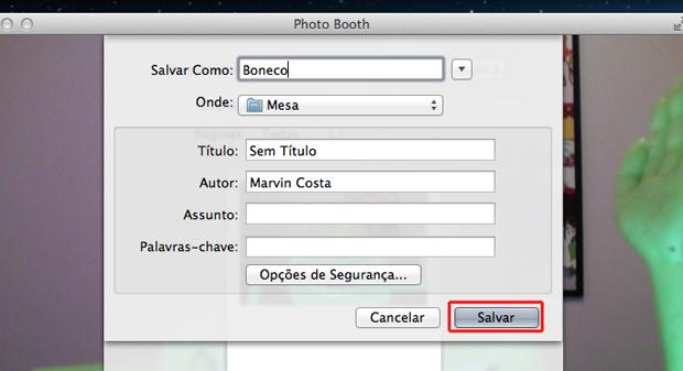Salvando a foto em PDF através do Photo Both do Mac OS (Foto: Reprodução/Marvin Costa)