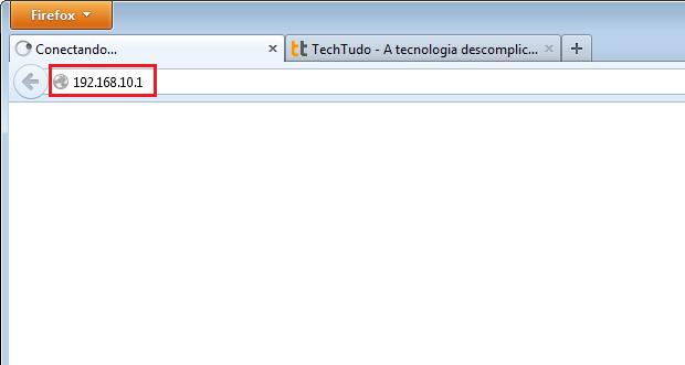 Acessando o painel do repetidor pelo navegador (Foto: Reprodução/Edivaldo Brito)
