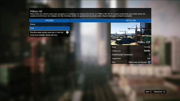 Seja o host da partida para criar uma disputa. (Foto: Reprodução)