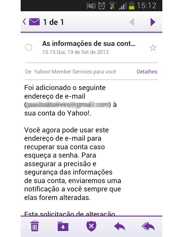 Além da versão web, Yahoo Mail também tem novos aplicativos para Android e iOS (Foto: Reprodução/Paulo Alves)