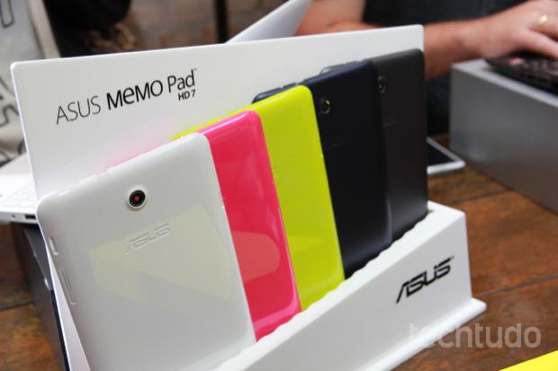 Asus apresentou Memo Pad HD 7, nova geração de tablets com Android (Foto: Rodrigo Bastos/TechTudo)