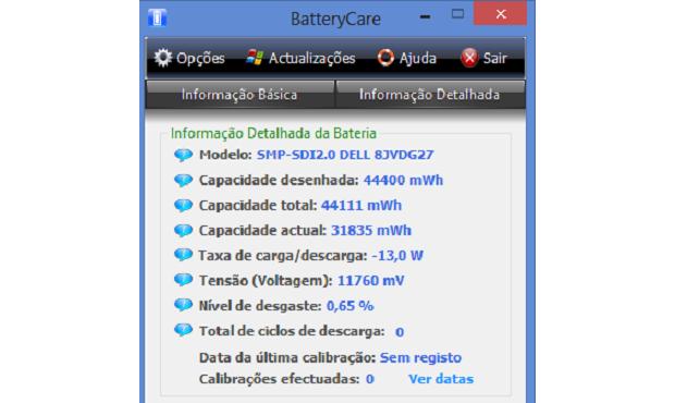 Com o BatteryCare, você tem o controle total do estado da sua bateria (Foto: Reprodução/TechTudo)