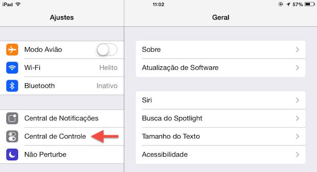 Opções do iOS 7 (Foto: Reprodução/Helito Bijora)