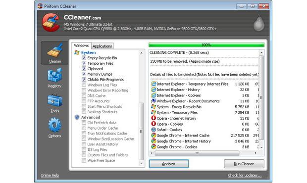O Ccleaner limpa seu computador de arquivos inúteis (Foto: Reprodução/TechTudo) (Foto: O Ccleaner limpa seu computador de arquivos inúteis (Foto: Reprodução/TechTudo))