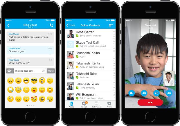 Skype está de cara nova no iOS 7 (Foto: Divulgação)