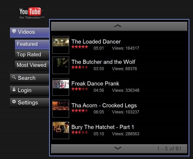 Assista aos vídeos do YouTube na TV (Foto: Divulgação)