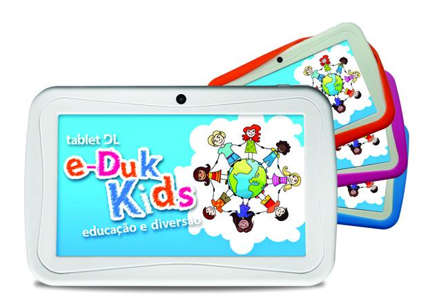 Colorido, tablet DL e-Duk Kids tem preço sugerido de R$ 379,90 (Foto: Divulgação)