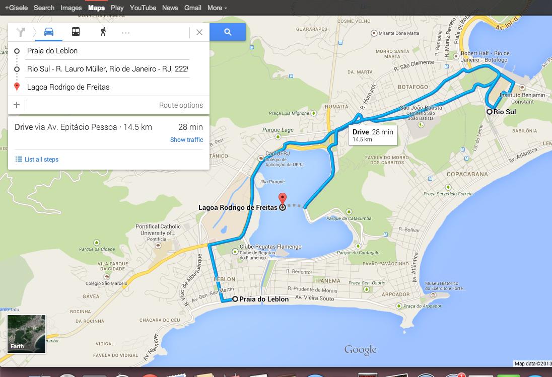 """Novo botão """"+"""" permite que usuários adicionem múltiplos destinos no Google Maps. (Foto: TechTudo / Gisele Góes)"""
