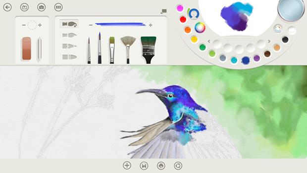Fresh Paint trás nova interface em sua versão para o Windows 8.1 (foto: Reprodução/Windows Experience Blog)