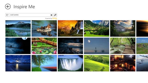 """""""Inspire Me"""" trás imagens que podem ser modificadas no aplicativo (foto: Reprodução/Windows Experience Blog)"""