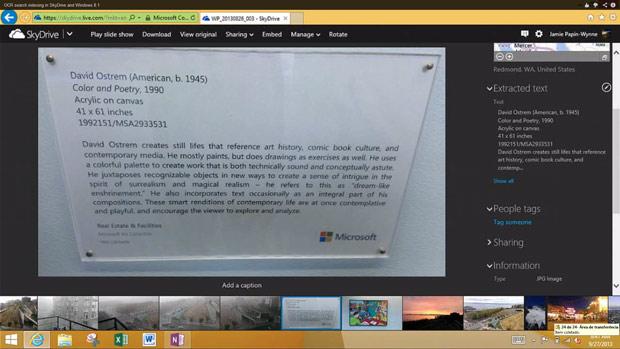 Na imagem, você pode ver a foto de um documento e, à direita, o texto extraído da foto (Foto: Reprodução)
