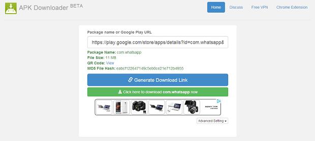 Acesse este site para baixar o arquivo apk (Foto: Reprodução/Aline Jesus)