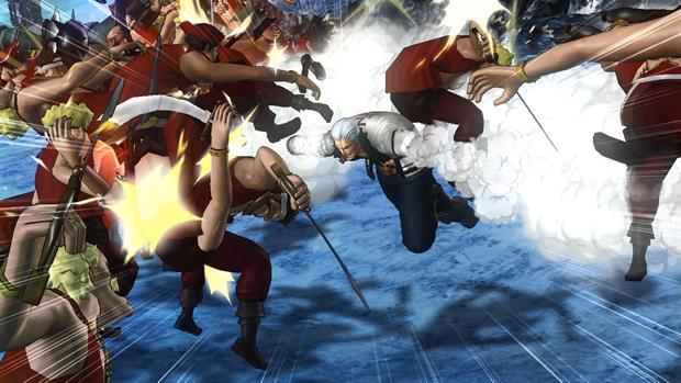 Smoke vira aliado de Luffy na história de Pirate Warriors 2 (Foto: Divulgação)
