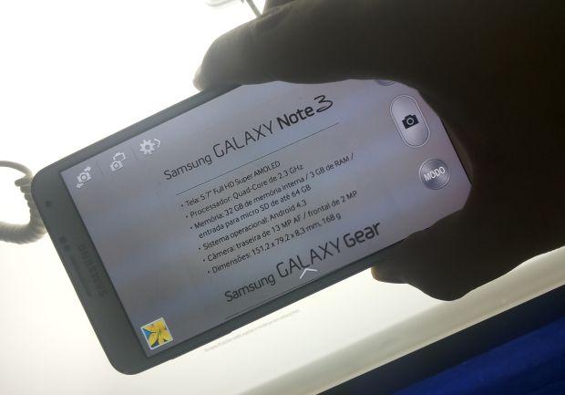 A câmera de 13 Megapixels do Galaxy Note 3 (Foto: Pedro Zambarda/TechTudo)